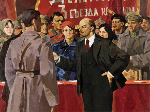 Aleksandr Lomykin - Lenin at the Third KomSoMol Convention 1969