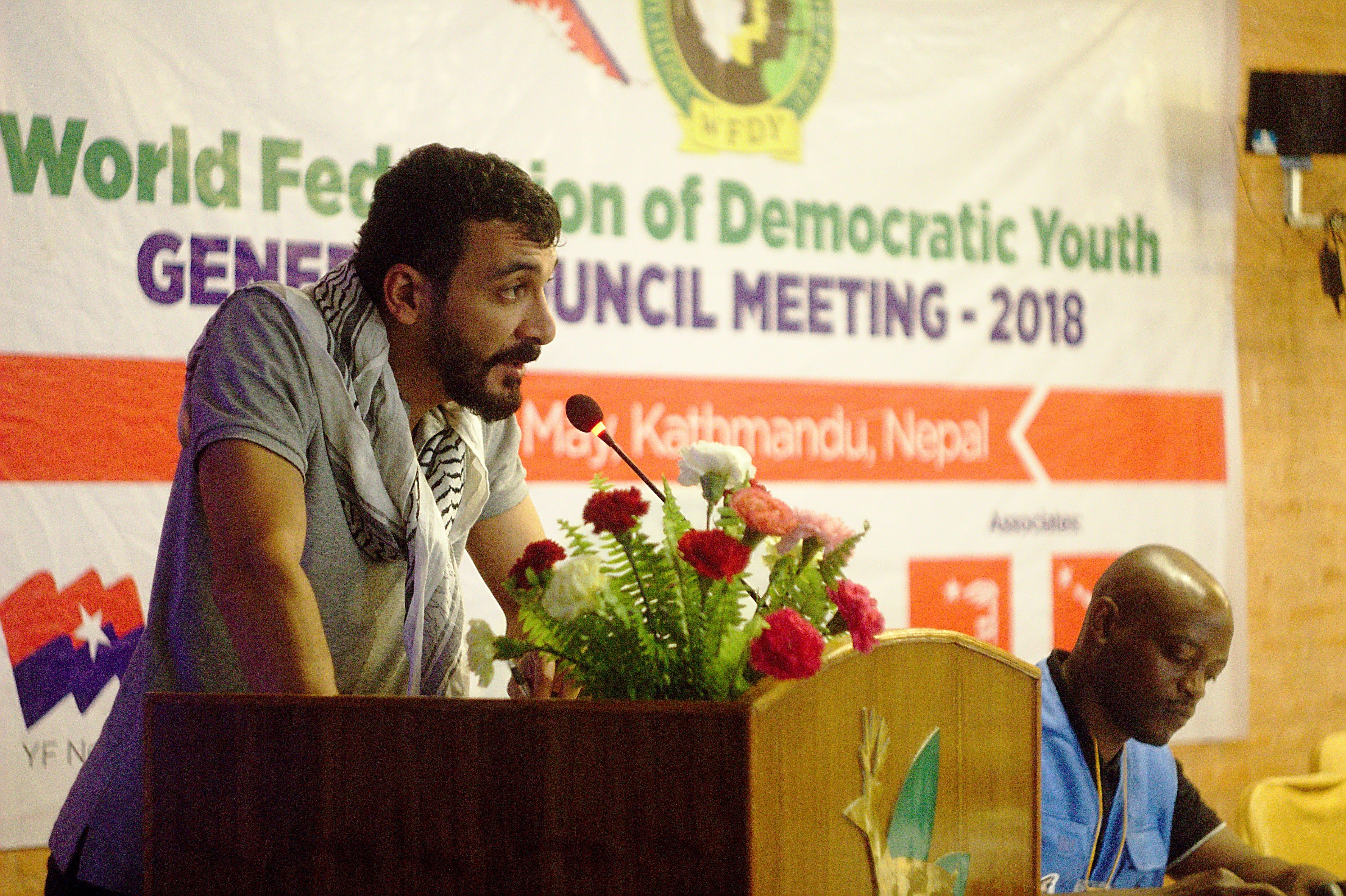 Вице-президент ВФДМ Аднан Эль Мокдад (Ливан)